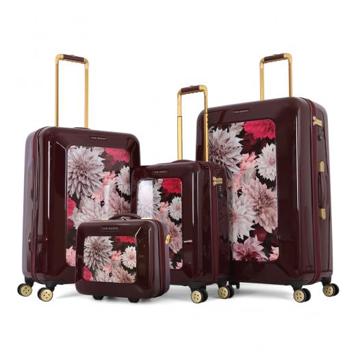 طقم حقائب تروللي ثلاث قطع+شنطة مكياج ماركة تيد بيكر