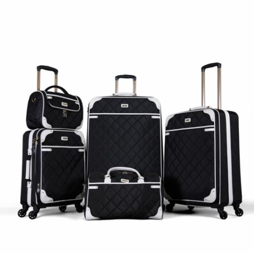 طقم حقائب سفر ماركة فكتوريا-أبيض / أسود