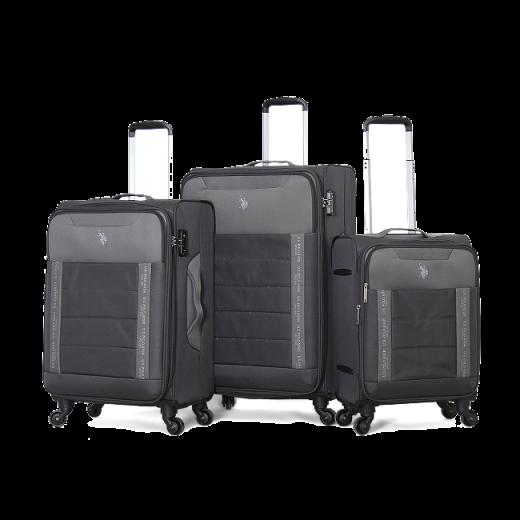 طقم حقائب سفر ماركة يو اس بولو-رصاصي