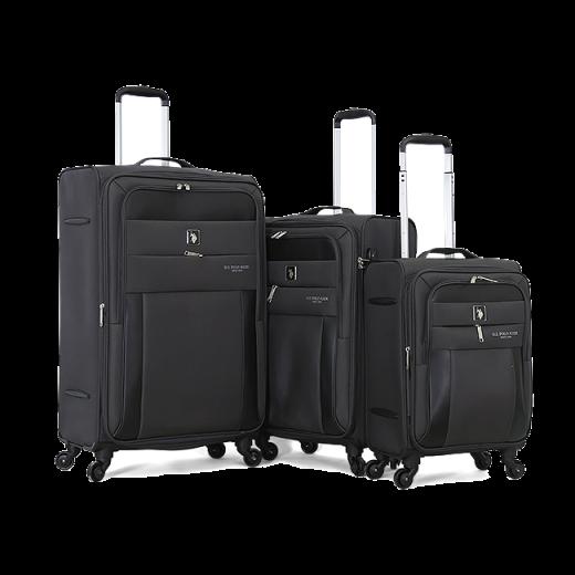 طقم حقائب سفر ماركة يو اس بولو-رمادي
