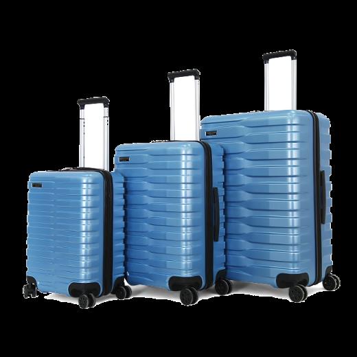 طقم حقائب سفر ماركة يو اس بولو-ازرق