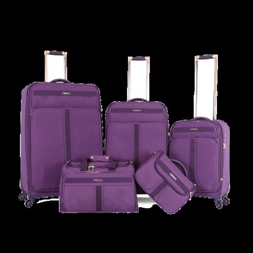 طقم حقائب سفر ماركة فكتوريا-بنفسجي