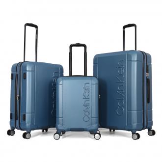 طقم حقائب تروللي بولي كاربون ثلاث قطع ماركة كالفين كلاين