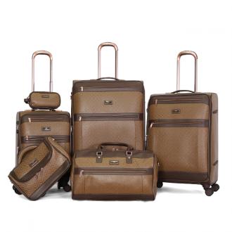 طقم حقائب ماركة فيكتوريا ثلاث مقاسات مختلفه وشنطة كتف وشنطه مكياج وحافظه نقود-بني